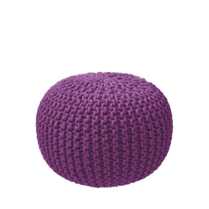 pouf tricot couleur prune achat vente pouf poire. Black Bedroom Furniture Sets. Home Design Ideas