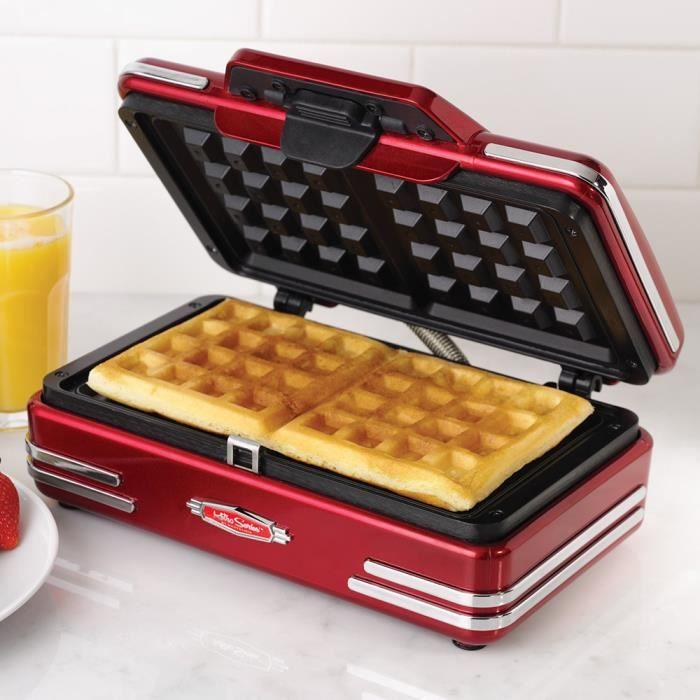 Mini 750W Gaufrier Rétro Machine à Waffle électrodomestiques 25 ...