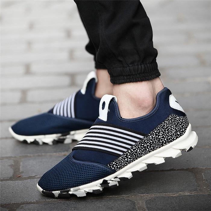 Couple Sports Sneakers Hommes Femmes Chaussures de course Respirant Légers Bleu