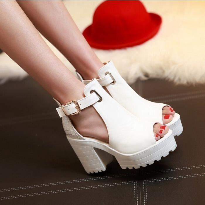 2016 sandales à bout ouvert féminins épaisse pl... pGqDS