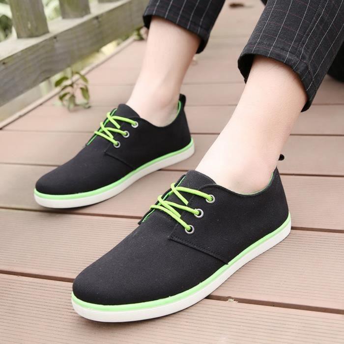 à Mode Toile Été Lacets Chaussures Printemps Casual Pour Arrivée Confortable Nouvelle Hommes nPBwzq177