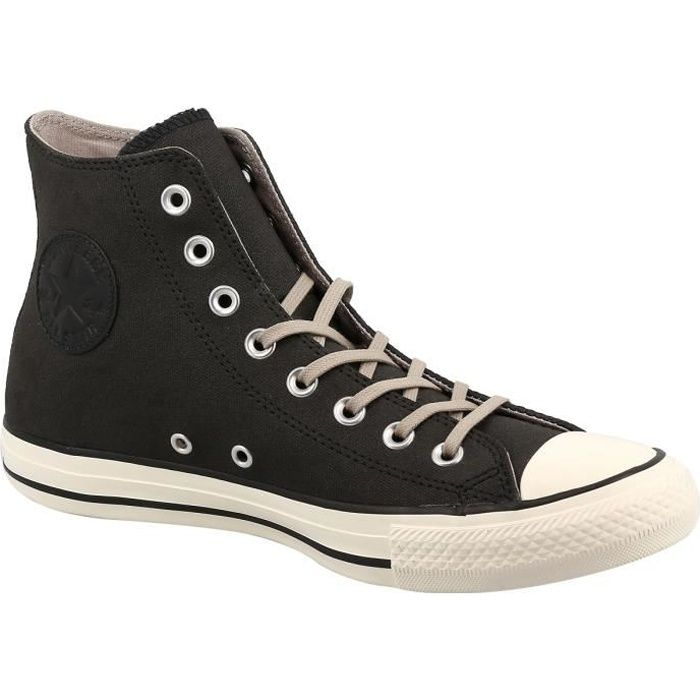 897ba871b37e9 Baskets montantes - CONVERSE CHUCK TAYLOR ALL STAR LEATHER Noir Noir ...