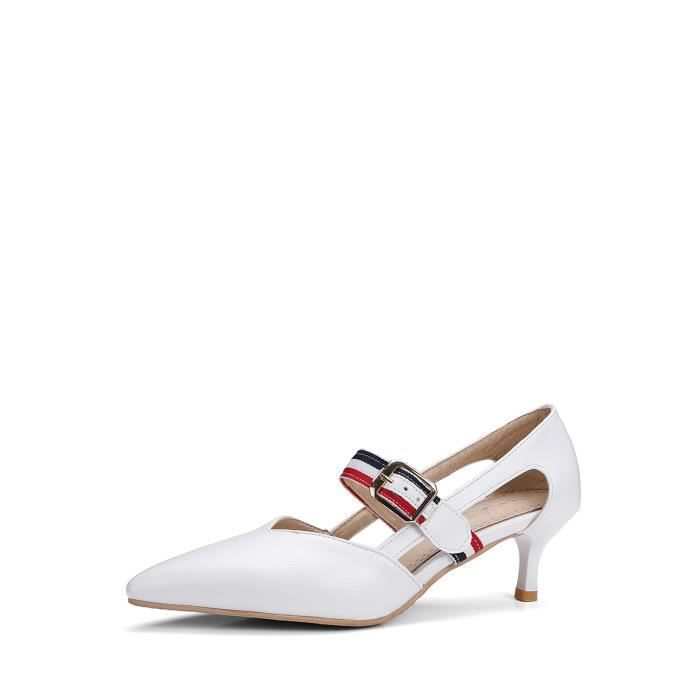 Pointu Toes Pompes Sexy évider Elegance à talons hauts Chaussures femme 6652198 XUh6mPX