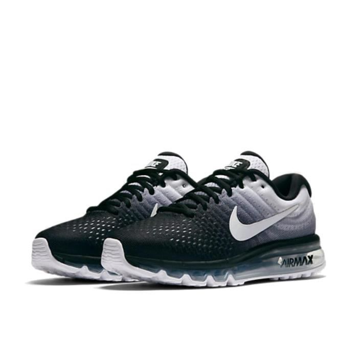 reputable site 1f223 bacfa NIKE Airmax 2017 Homme Basket Running Chaussures 849559-010 Noir Blanc