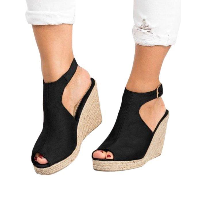 710838ec06d Chaussure femme ete talon compense - Achat / Vente pas cher