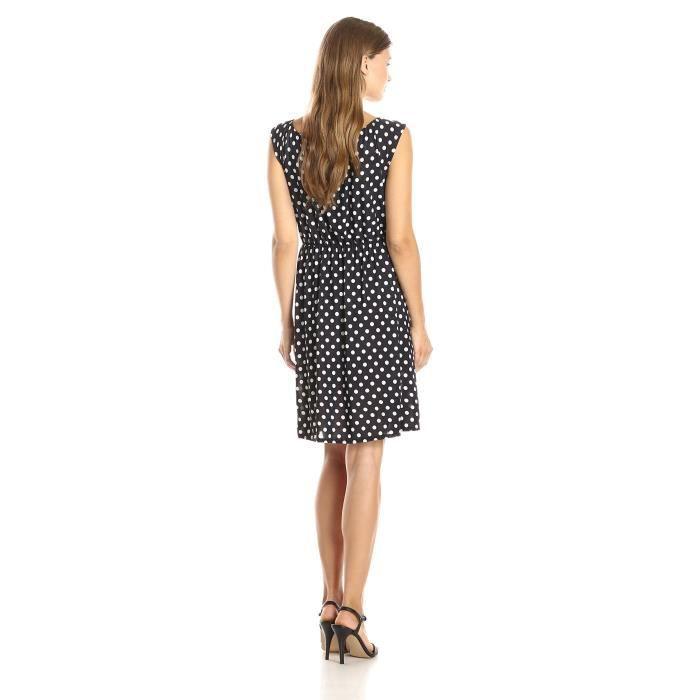 Craze solide robe en jersey de trapèze à encolure plissée. Sans manches GBP5V