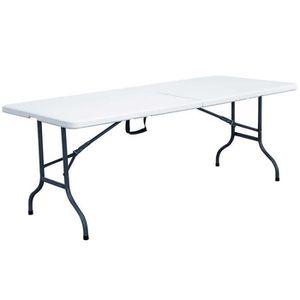 Grande table de jardin avec chaises - Achat / Vente pas cher