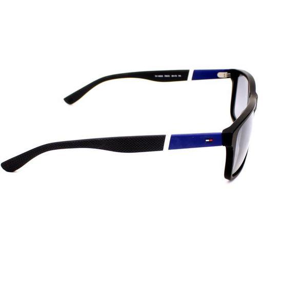 68f22b9d62 Lunettes de soleil Tommy Hilfiger TH 1405-S -FMVIC Noir mat - Bleu - Achat  / Vente lunettes de soleil Homme Adulte Noir - Soldes d'été Cdiscount
