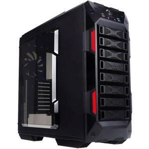 BOITIER PC  In Win boîtier GR One noir et rouge Grand tour