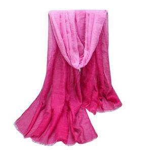 exquisgift®Dame mode Écharpes Couleur de dégradé Femmes châle pashmina  étole écharpe foulards long Wrap populaire élégant a214083bff0