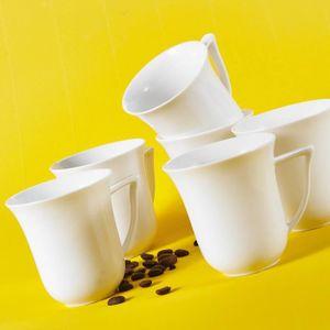 BOL - MUG - MAZAGRAN 6 Tasses à Café Porcelaine Services à Thé Petit Dé