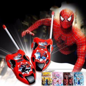 TALKIE-WALKIE JOUET 2pcs enfants talkie-walkie jouets en plastique Spi