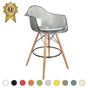 chaise de bar transparente solde