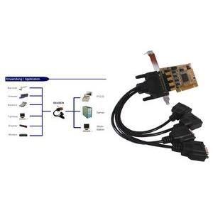 CARTE GRAPHIQUE INTERNE EXSYS carte sérielle PCI 16C950 RS-232, 4S, Low…