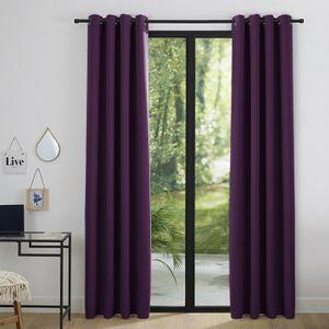 rideaux occultants violet achat vente pas cher. Black Bedroom Furniture Sets. Home Design Ideas