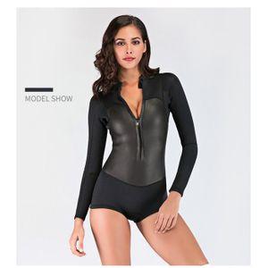 02702a7967 COMBINAISON DE NATATION Athlete - Combinaison Monopièce Femme pour Surf Pl
