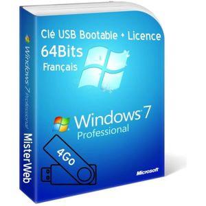 CLÉ USB Activation licence + Clé USB Bootable Windows 7 Pr