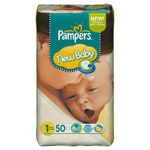 COUCHE Pampers New Baby Couches T1 - 2-5 kg 4X50 Couches
