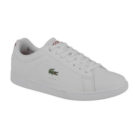 1fd1a3ec009ff Basket Lacoste Carnaby evo 216 en cuir blanc et rouge. Blanc Blanc - Achat  / Vente basket - Soldes d'été Cdiscount