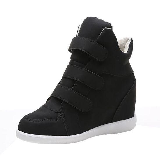 Deuxsuns®Mode Femmes Dames Pionted Toe Plissé Chaussures Slip-On Casual Confortable@Noir Noir Noir - Achat / Vente slip-on