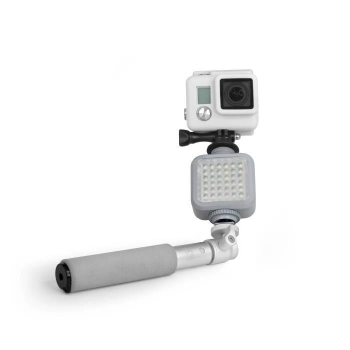 XSORIES Flash Projecteur avec Perche Selfie Combo - Gris argenté