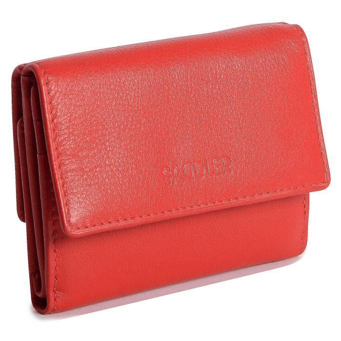 Compact 10cm Double Bourrelet Sac A Main Mini Cas De La Note De Sac A Main Portefeuilles A Trois Cotes FGRPP