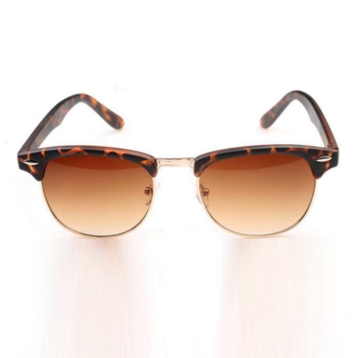 Femmes unisexes homme Vintage rétro lunettes de la mode unisexe Aviator lunettes de soleil lentille miroirBW