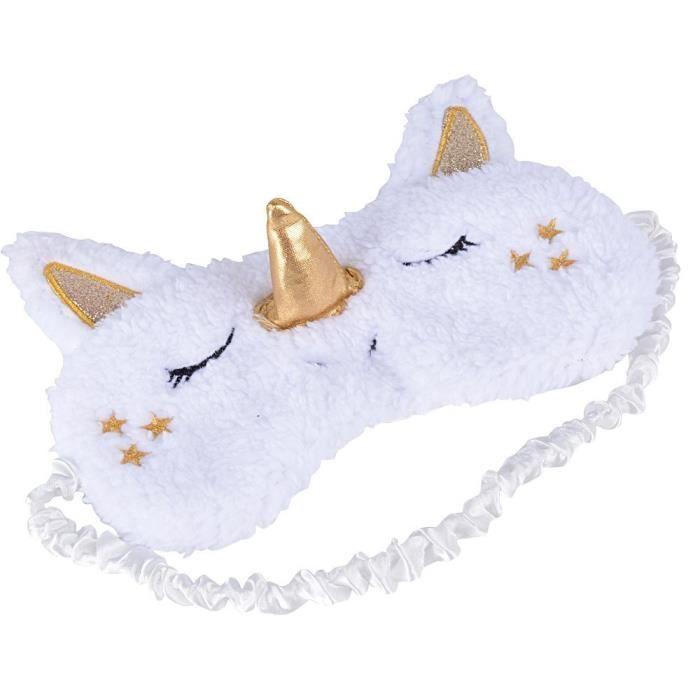 masque de nuit yeux sommeil licorne masque pour les yeux pour dormir mignon masque cache yeux. Black Bedroom Furniture Sets. Home Design Ideas