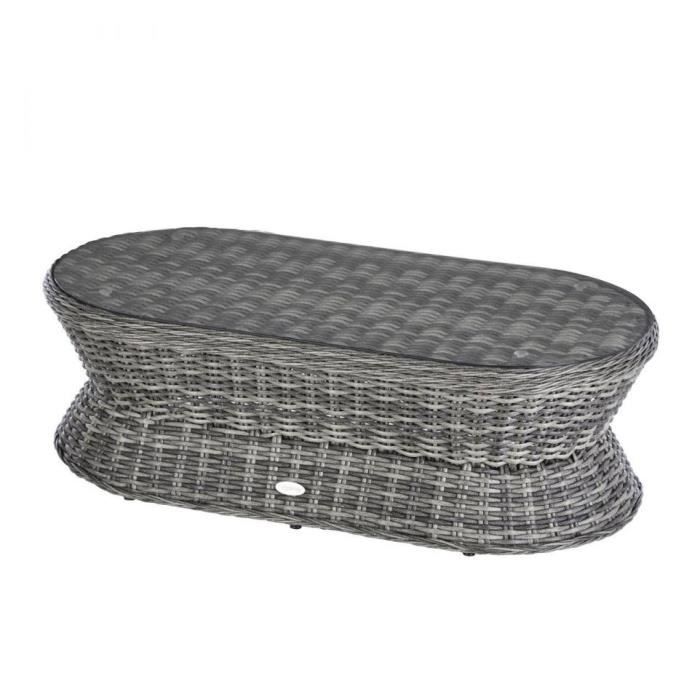 TABLE BASSE EXTERIEUR COCOA HESPERIDE TERRE OMBRE - Achat / Vente ...