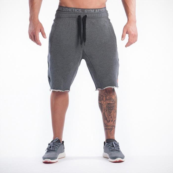gymshark shorts homme skateboard coton sport short gris. Black Bedroom Furniture Sets. Home Design Ideas