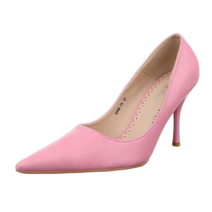 Femme escarpin chaussure talons aiguilles talon stiletto soir chaussure talon stiletto rose
