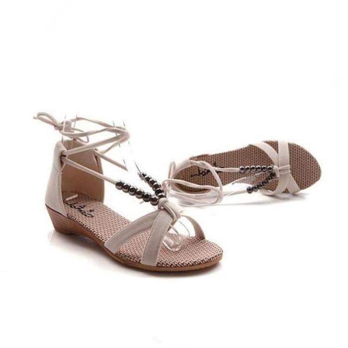 Sandale Femme Haut qualité 2017 Nouvelle Mode Marque De Luxe Sandales Plus De hiver Coton Couleur noir vert Grande Taille 36-40