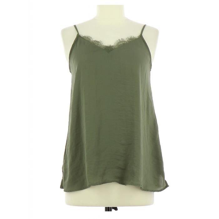 02cdf677c9b487 Top PROMOD FR 36 Vert Vert - Achat / Vente t-shirt - Cdiscount