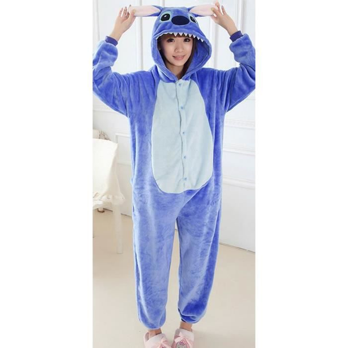 rechercher l'original mode de vente chaude pour toute la famille EOZY Pyjama Femme Homme Combinaison en Flanelle Déguisement Costume Animal  Halloween Cosplay