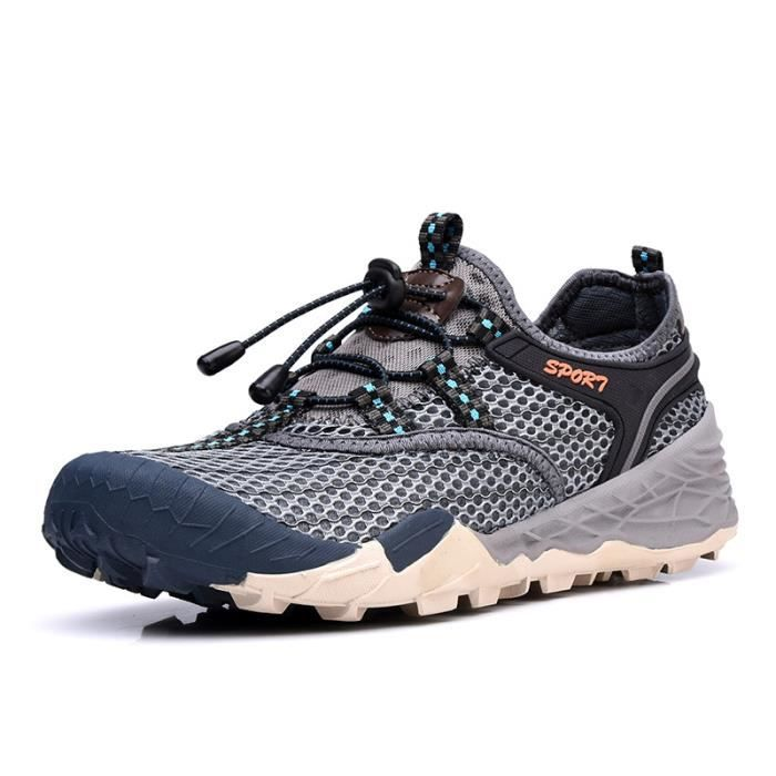 Baskets Homme Chaussure Jogging Sport léger Respirant Chaussures BTYS-XZ219Gris44