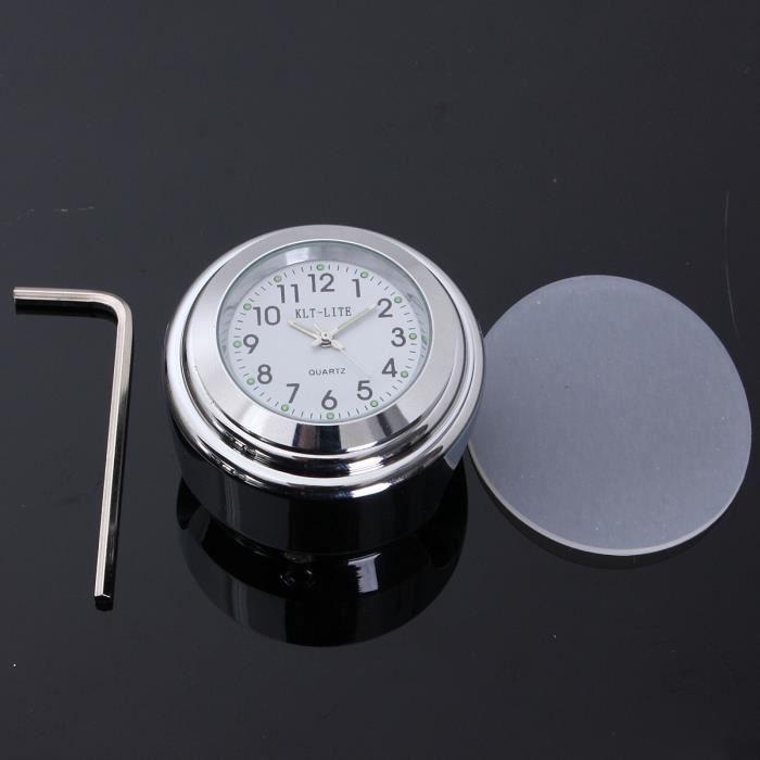 universel 7 8pouce 1pouce montre horloge guidon poign e. Black Bedroom Furniture Sets. Home Design Ideas