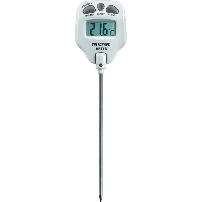 Thermom tre sonde voltcraft det1r achat vente for Thermometre de cuisine avec sonde