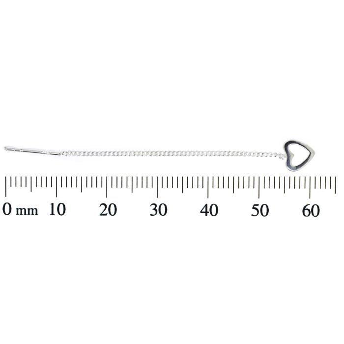 H. Gaventa Ltd - E - 11555 - Boucles Doreilles Pendantes Femme - Coeur - Argent Sterling 1.25 Gr NPTBB