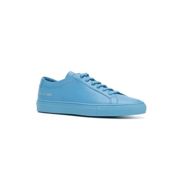 COMMON PROJECTS HOMME 15283890 BLEU CUIR BASKETS enkng