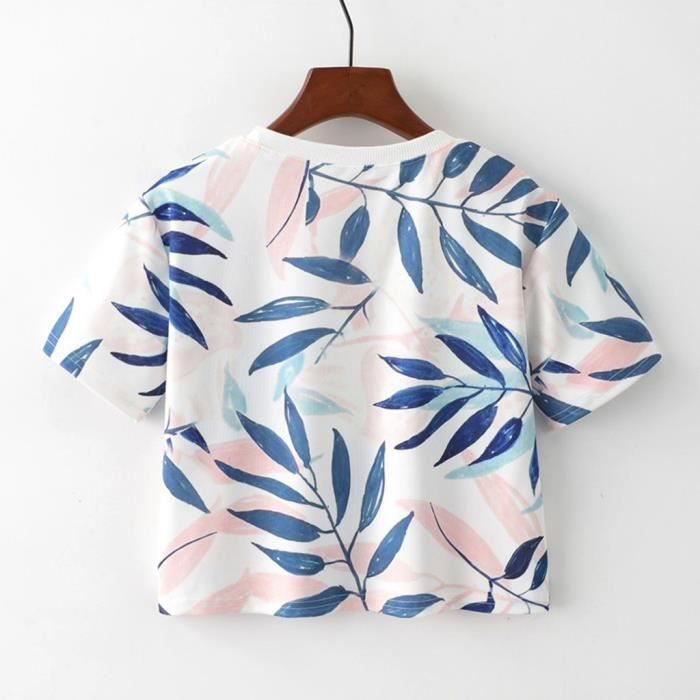 À Courtes Imprimer shirt Des Femmes cou O Géométrique Manches T Chemisier5520 En Vrac Animal LGVpUzMqS