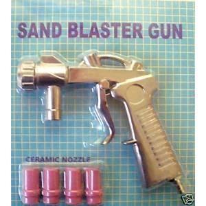 SABLEUSE Pistolet de sablage pour microbilleuse + 4 buses