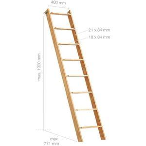 ESCALIER Échelle en bois H190cm 8 marches