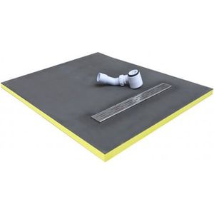 RECEVEUR DE DOUCHE receveur de douche 90x90x3cm écoulement linéaire p