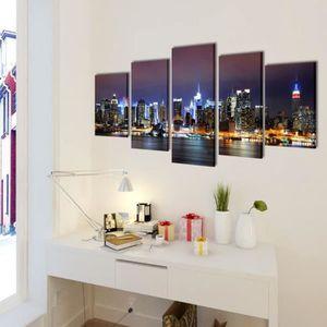 TABLEAU - TOILE 100 x 50 cm Toiles Murales à 5 Panneaux motif de H