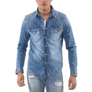 CHEMISE - CHEMISETTE Kaporal Chemise en Jeans Homme Salto Vintage