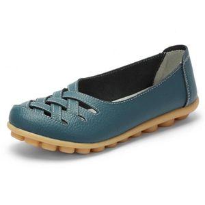 Chaussures Femmes ete Loafer Ultra Leger plate Chaussures ZX-XZ053Bleu37 aaPSGlmyTG