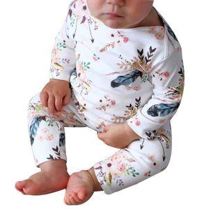 849650a227dbf Ensemble de vêtements Enfant nouveau-né bébé fille Floral Romper Jumpsui ...
