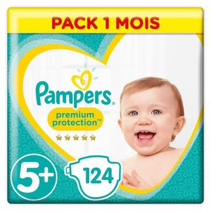 COUCHE PAMPERS Premium Protection Taille 5+ 13-25 kg - 12