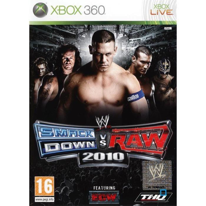 JEUX XBOX 360 WWE SMACKDOWN VS RAW 2010 / JEU CONSOLE XBOX360