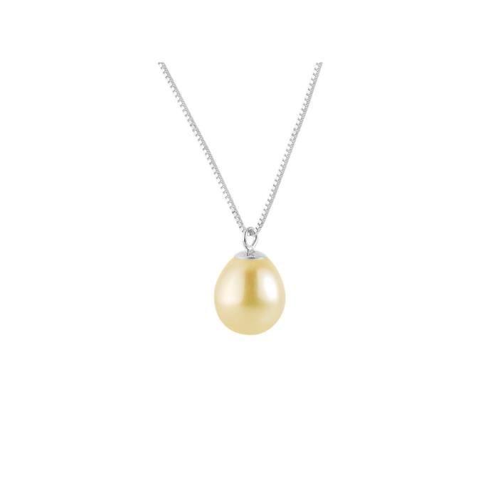 Pcc argent sterling vénitiennes Mesh chaîne avec une perle deau douce1Z8P0R